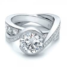 interlocking engagement ring wedding band custom interlocking diamond engagement ring ring custom wedding