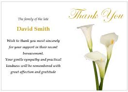 bereavement thank you cards funeral thank you note sympathy memorial thank you note card thank