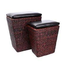 Rattan Pouf Ottoman Rattan Ottomans Footstools And Poufs Ebay