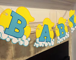 Rubber Ducky Baby Shower Decorations Rubber Duck Banner Etsy