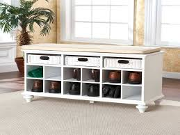 Cushion Top Storage Bench by Image Of Bed Storage Bench With Cushion Seat Shoe Storage Bench