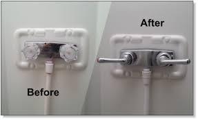motor home improvement part 2 rv shower fixture replacement