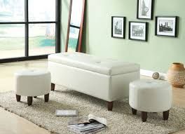 White Leather Benches Perfect White Leather Ottoman Bench 13 For Your Home Pictures With