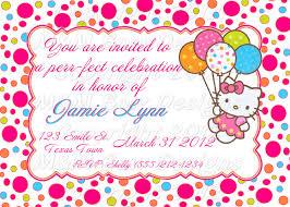 40th birthday ideas birthday invitation templates hello kitty
