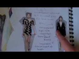 Art Portfolio Design Example Art Portfolio For Entry Into Fashion Design Degree Youtube