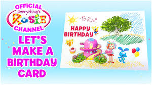 cartoon for kids kids arts and crafts make a birthday card