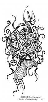 a design by bensemann featuring a koi fish and a