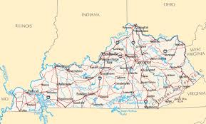 map kentucky lakes rivers kentucky rivers map