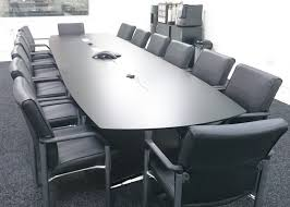 Black Boardroom Table Switch Boardroom Table In Black Laminate Glass Display Cabinets
