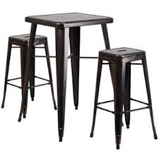 Bar Table Sets Modern Gold Bar Tables Sets Allmodern