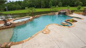 Swimming Pool In Backyard by Custom Pool Builder Tyler Texas Gunite Pool Construction Above