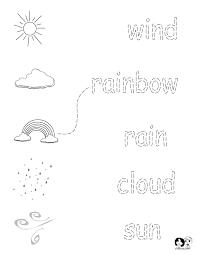 Kindergarten Weather Worksheets Worksheets