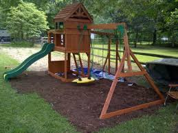 backyard discovery montpelier cedar wooden swing set walmart com