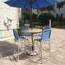 Outdoor Furniture Bar by Vinyl Strap Patio Furniture Aluminum Vinyl Strap Furniture