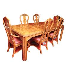 drexel heritage vintage dining table with leaf inserts and chairs