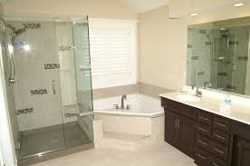Bathroom With Corner Shower Bathroom Decoration Using Triangle White Corner Bathtub Including