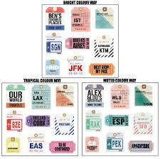 travel tags images Personalised travel tag artwork by velvet ribbon jpg
