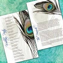 peacock wedding programs peacock wedding weddbook