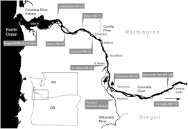 Columbia River Map Long Term Evolution Of Columbia River Tides Journal Of Waterway