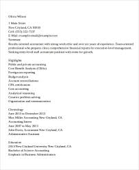 Accountant Resumes Examples by 20 Accountant Resume Examples Free U0026 Premium Templates