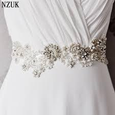 wedding sashes free shipping s157 rhinestones pearls wedding belts wedding sashes