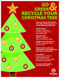 locations for free tree recycling city of