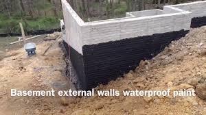 watching a house being built basement external walls waterproof
