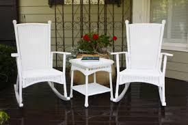 the portside classic all weather wicker rocking chair set