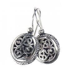 filigree earrings designer drop earrings gerochristo 1386 sterling silver