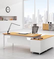Wall Office Desk by Fascinating High End Office Furniture With L Shape Wooden Desk