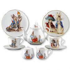 beatrix potter tea set beatrix potter porcelain tea set in a bookcase box beatrix
