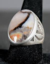 silver wood rings images Savvy collector petrified wood agate stamped silver ring by jpg