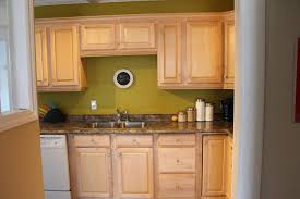 kitchen simple green kitchen wall color with oak wood cabinet