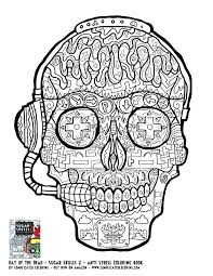small skull outline printable coloring sugar skulls coloring
