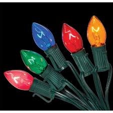 C7 String Lights Outdoor by Home Accents Holiday C7 25 Light Multi Color Incandescent Light