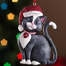 personalized black santa cat ornament christmas gift ideas