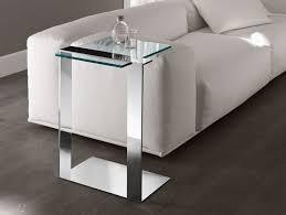 Accent End Table Nella Vetrina Tonelli Joliet Contemporary Italian Chrome End Table
