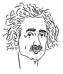 einstein doodle sketch razblint