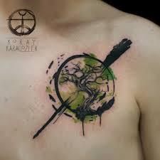 resultado de imagen para trees watercolor tatoo