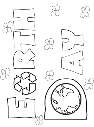 holiday earth day coloring pages for kids printable earth day