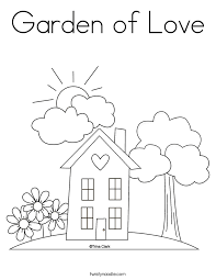 coloring page house house coloring pages twisty noodle