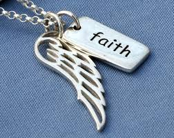 faith jewelry items similar to faith angel wing necklace faith necklace faith