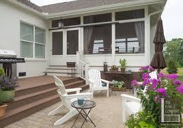 modern porch sliding screen door porch