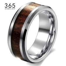 top titanium rings images 2017 unique jewelry titanium color never fade retro wedding wood jpg