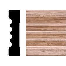 house of fara 3 4 in x 3 in x 8 ft oak fluted casing 9584 the