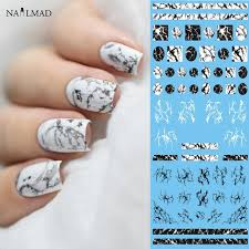 1 sheet nailmad stone marble nail water decals transfer stickers