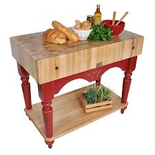 boos maple calais u2013 7 u201d thick butcher block on french farm legs at
