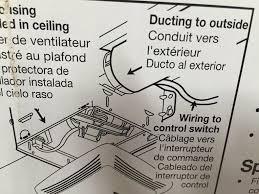 nutone basic exhaust bathroom ventilation fan with light model