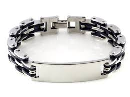 stainless steel bracelet charms images 20pcs lot rubber 316l stainless steel bracelet charm men bracelet jpg
