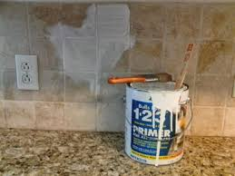 Cheap Kitchen Backsplash Ideas by Painting Tile Backsplash With Chalk Paint Painting Stone